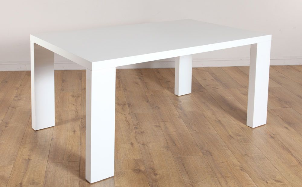 Buy Stockholm White High Gloss Dining Room Table 150X90 At Captivating High Gloss Dining Room Furniture 2018
