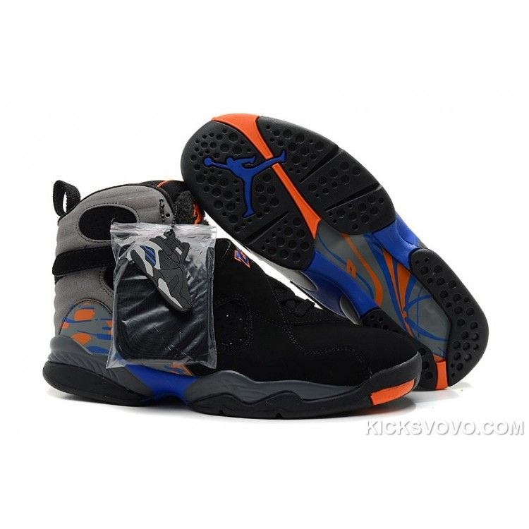 Find this Pin and more on MEN'S JORDAN 8 SHOES. Air Jordan 8 Original High  Black Grey Orange ...