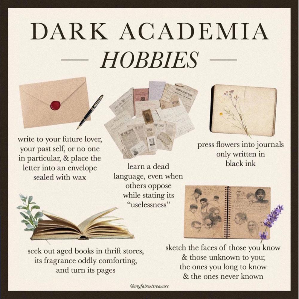 Academia Lives On Tiktok Dark Dark Aesthetic Light In The Dark