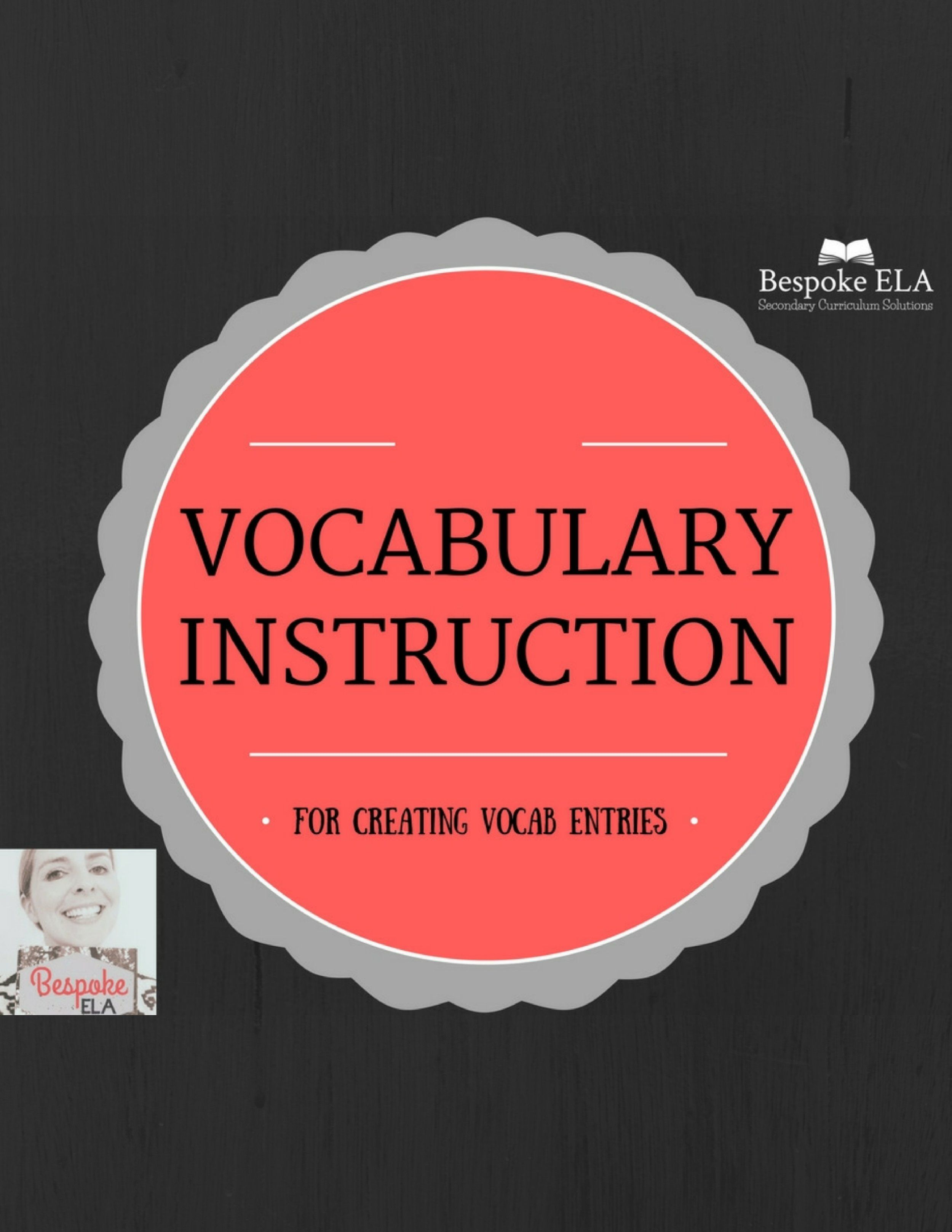 Vocabulary Entry Instructions A Strategy For All Content