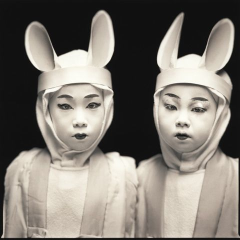 Some beautiful photography of Kabuki players as rabbits in Japan.