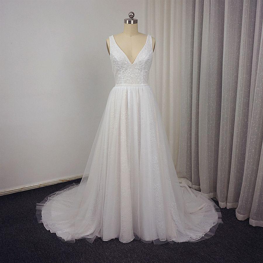 Click Image To Vestido De Noiva Boho Wedding Dresses Real Photo V