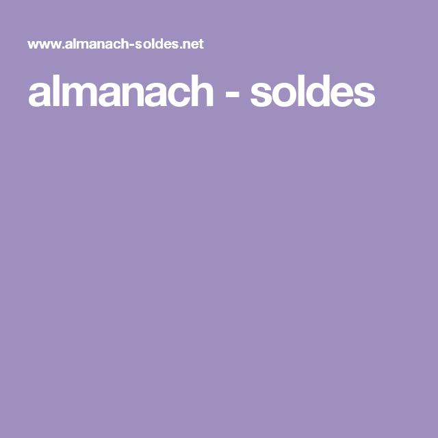 almanach - soldes