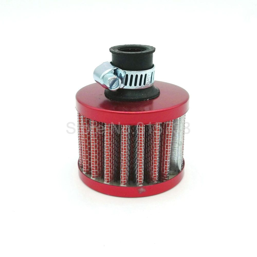 12mm Car Red Mini Air Filter Car Motor Cold Air Intake