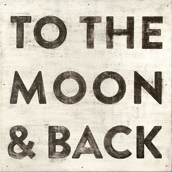 Sugarboo Designs To the Moon & Back Wall Art ($280) ❤ liked on Polyvore featuring home, home decor, wall art, wood wall art, word wall art, moon wall art, handmade home decor and wooden home decor