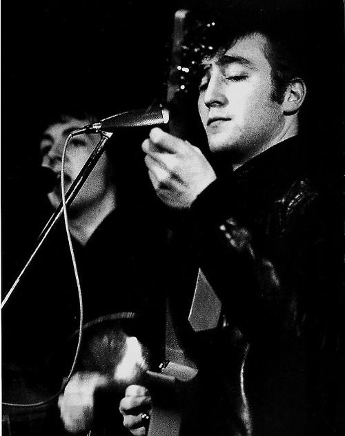 John Lennon (in his teddy boy days) | Beatles hits, The