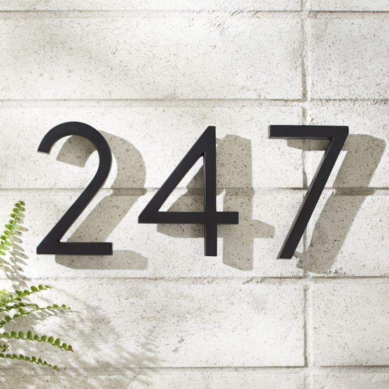 Aurele 6 Matte Black House Numbers Black House House Numbers