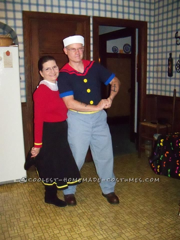 Coolest Popeye and Olive Oyl Couple Halloween Costumes  sc 1 st  Pinterest & Coolest Popeye and Olive Oyl Couple Halloween Costumes | Popeye and ...
