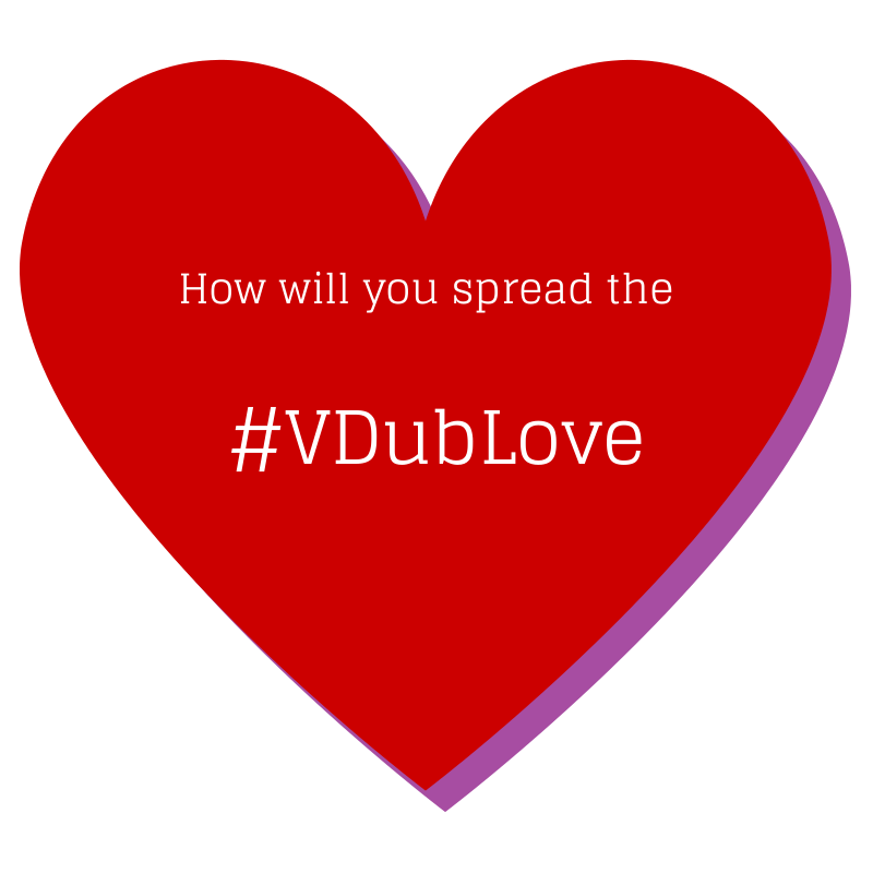 On this Valentine's Day, try spreading the #VDubLove by helping someone near you who needs help getting around or getting food. #TGIF  #VW #Volkswagen