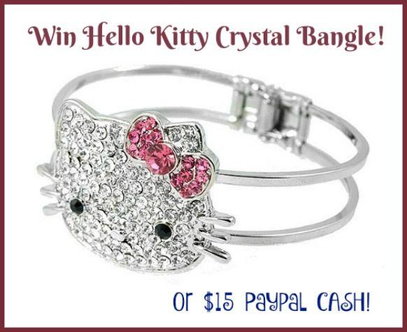 like Hello Kitty Sparkly bracelet with kitty