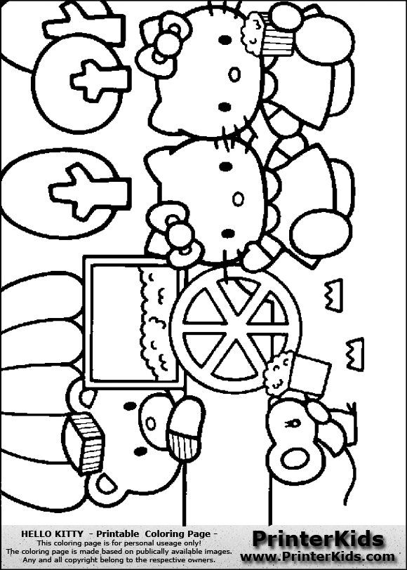 Hello Kitty - Popcorn with Friends - Coloring Page | Coloring sheets ...