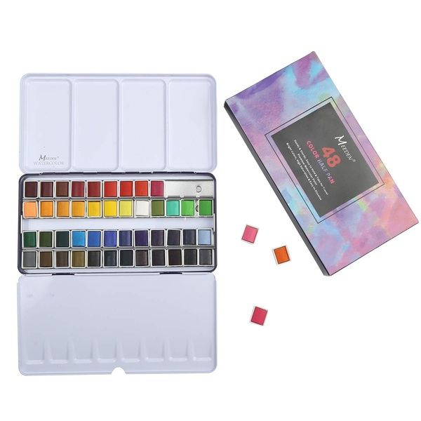 Meeden Art Watercolor Tin Palette Paint Set With 12 24 48