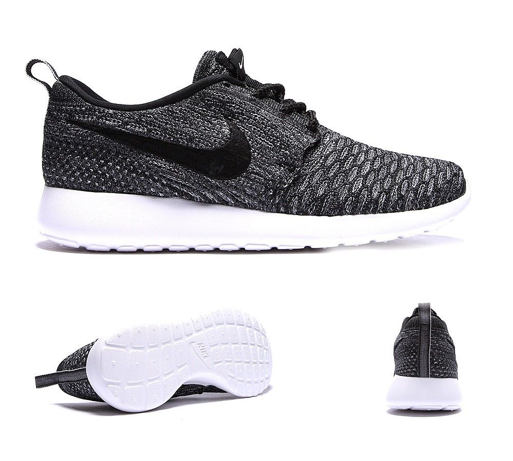 buy popular fa2dc 3b6cd Nike Womens Roshe Run Flyknit Trainer   Dark Grey   Black   Footasylum