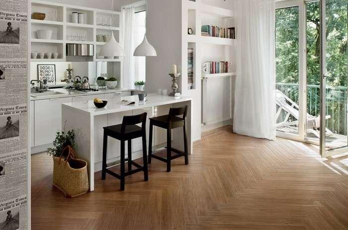 Abbinare il pavimento al rivestimento della cucina pavimenti