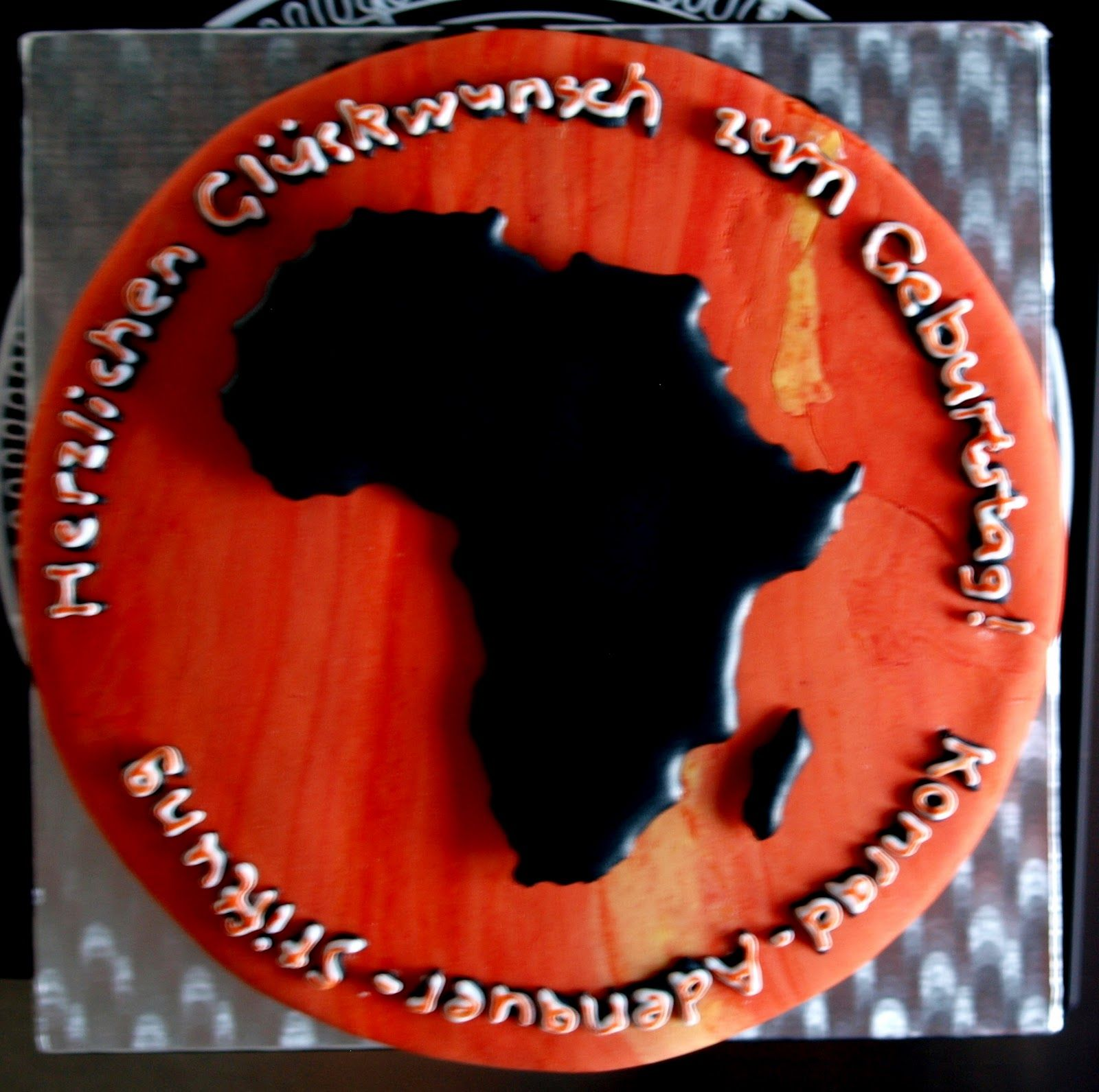 africa cake   with scripture around the country | Adoption Baby
