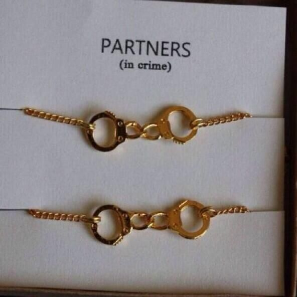 Partners in crime bracelets for best friends/sisters/ whoever!
