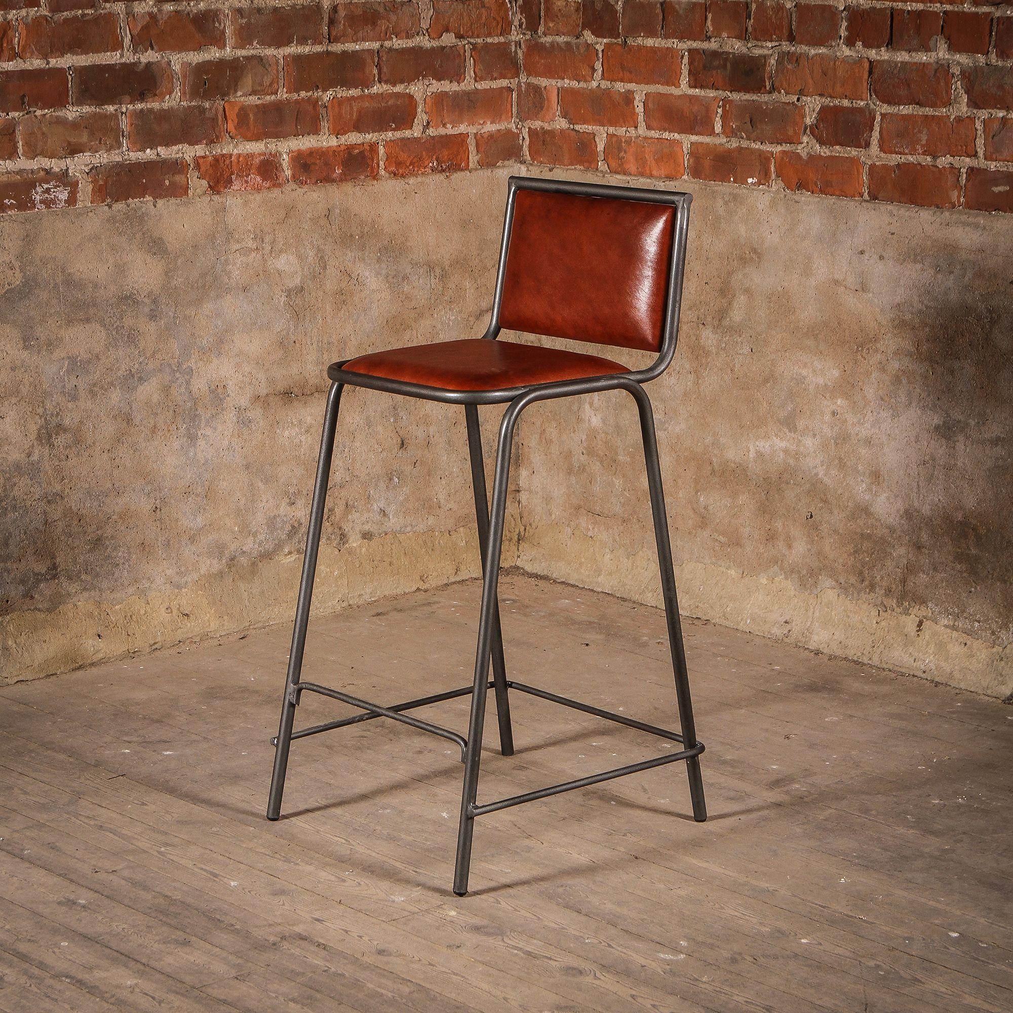 Vintage Leather Metal Acre Bar Stool Modern Bar Stools Bar Stools Bar Stool Furniture