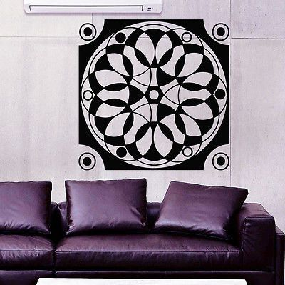 Wall Decals Mandala Om Yoga Circles Decal Bedroom Home Vinyl Bohemia