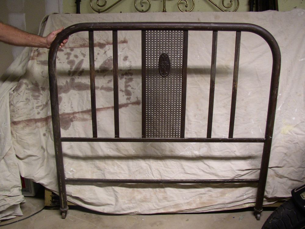 Vintage Metal Bed Frames simmons 1920's antique/vintage metal tubular bed frame | vintage