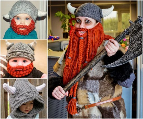 Crochet Viking Hat With Beard Free Pattern Free Pattern Crochet