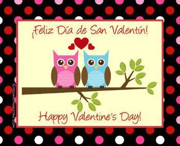 Bilingual Valentines Cards  Cards Dual language and Language