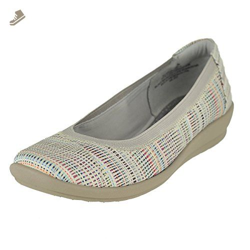 Easy Spirit Adelia Off White Multi/ Grey Fabric Womens Slip-On Size 9M -