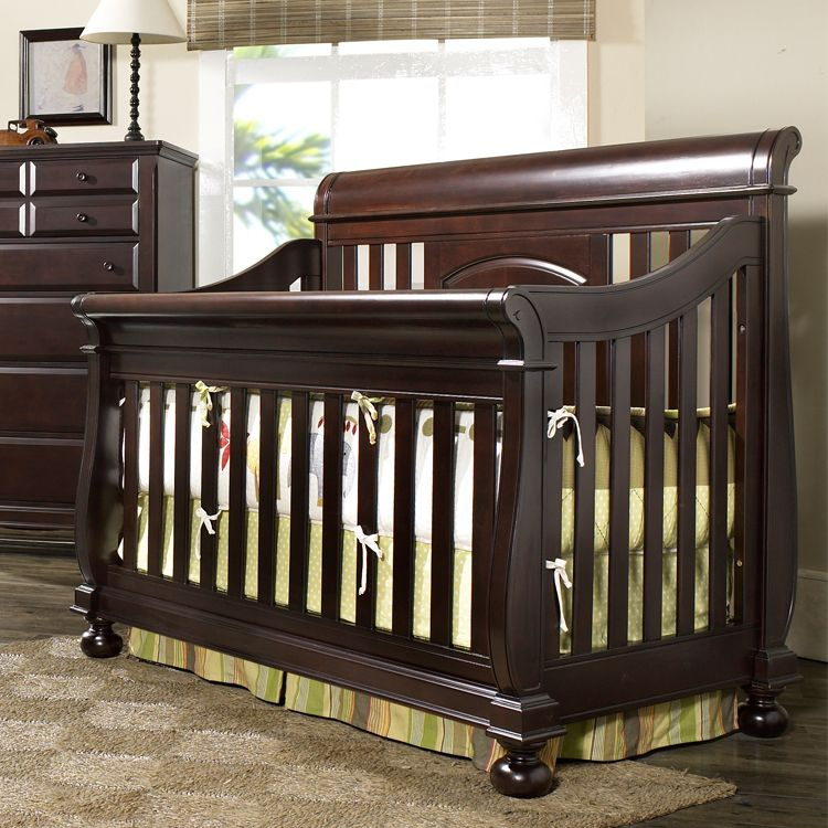 creations summer 39 s evening convertible sleigh crib espresso i would love to get new nursery. Black Bedroom Furniture Sets. Home Design Ideas