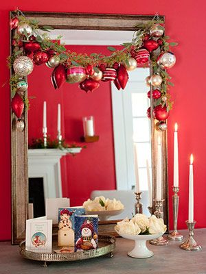 Simple ways to decorate for christmas garlands - Decoraciones de comedores ...