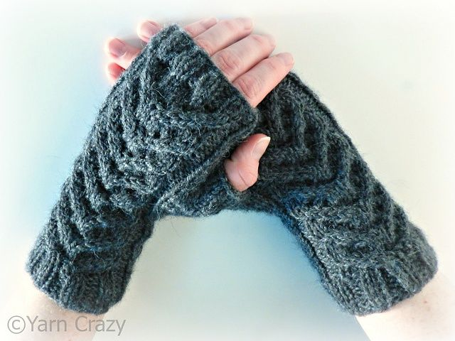 fingerless mittens knitting pattern | Ravelry: Cable Knit Fingerless Mittens I pattern by Crystal Lybrink