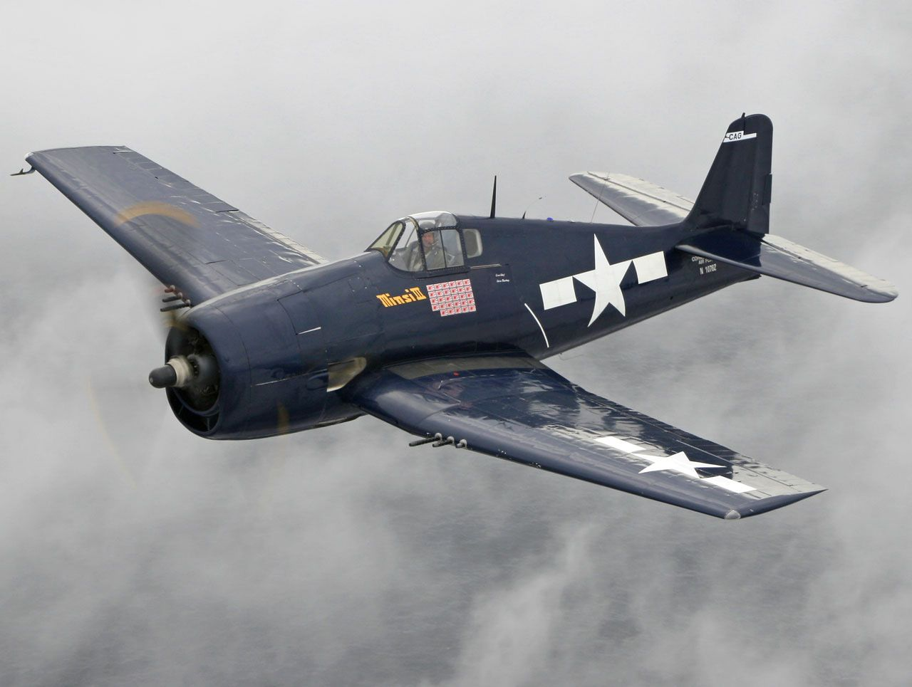 Navy Gruman F6F Hellcat carrier based fighter of WWII. The first model airpane I ever assembled - was one of these.