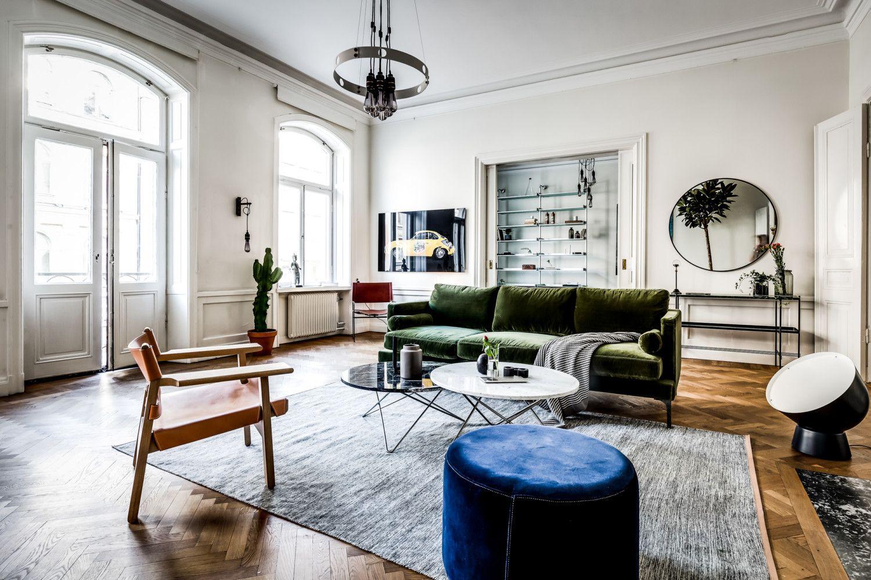 large scandinavian apartment, bohemian style living, eclectic ...