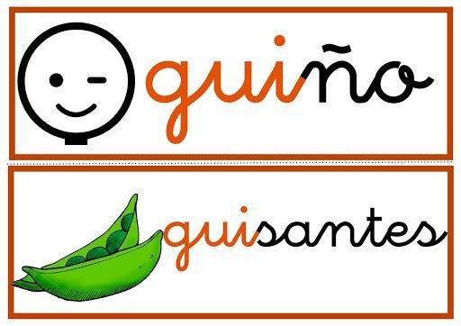 Ga Go Gu Gue Gui Güe Güi Lectoescritura Actividades De Letras Palabras Con G