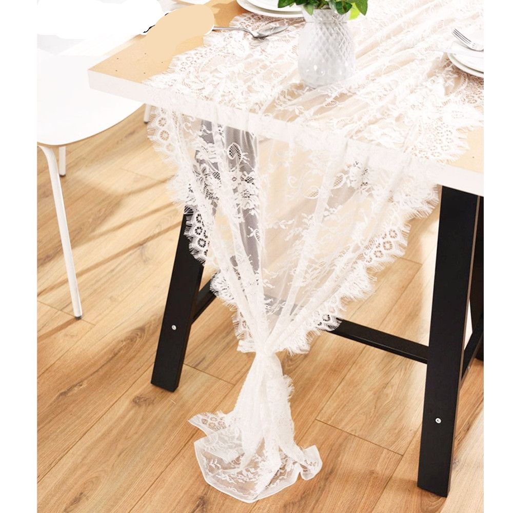 White Lace Table Runner  Price: 2.00 & FREE Shipping  #homedecormurah
