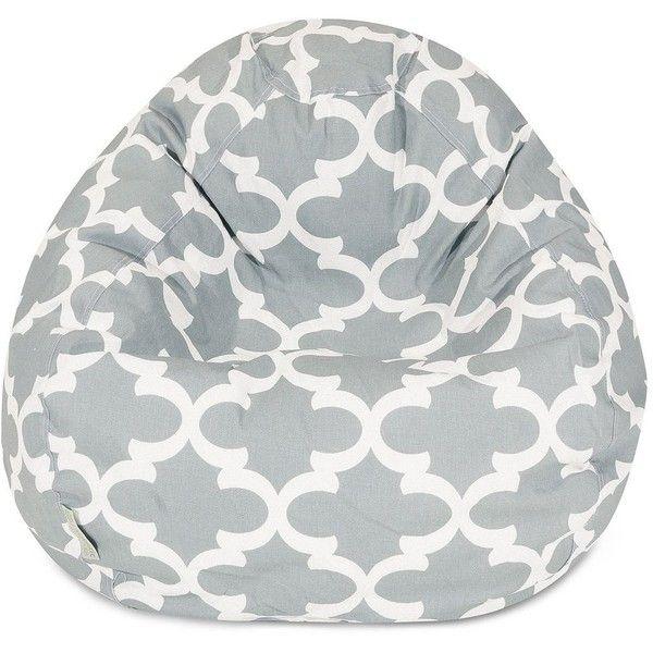 Majestic Home Goods Trellis Small Beanbag Chair (Grey) ($159 ...