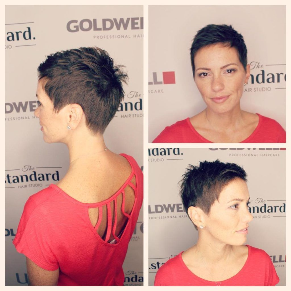 Brunette Short Textured Pixie - The Latest Hairsty