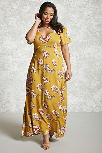 fd82a946b967 FOREVER 21+ Plus Size Floral Maxi Dress