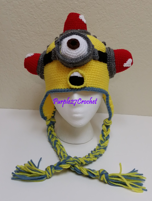Crochet Minion Hat - Thumbnail 3 | For the Love of Hats | Pinterest