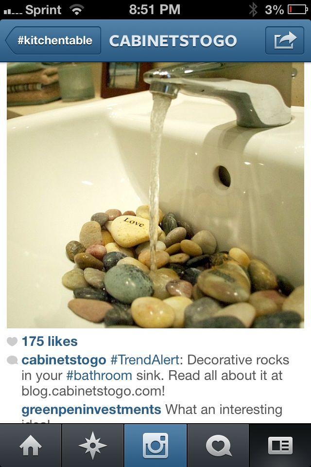 rocks in the sink i love it powder