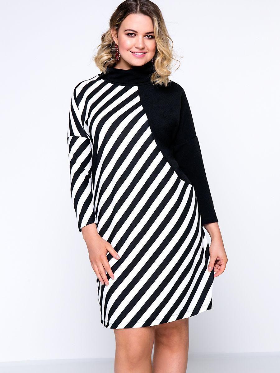 Fashionmia fashionmia modern black white asymmetric stripe