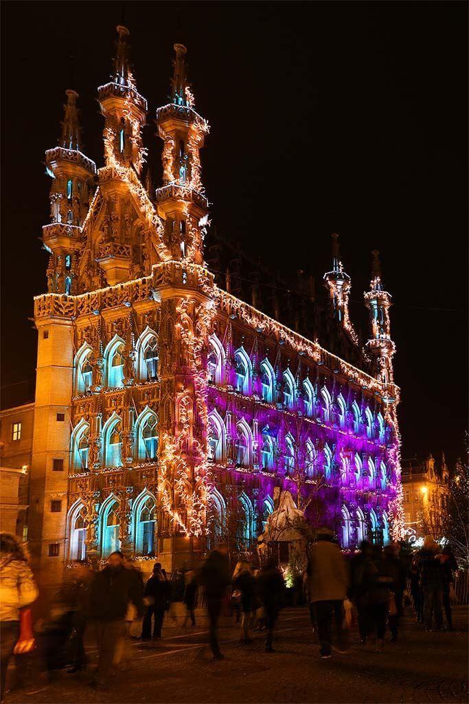 Image result for Leuven city hall Christmas