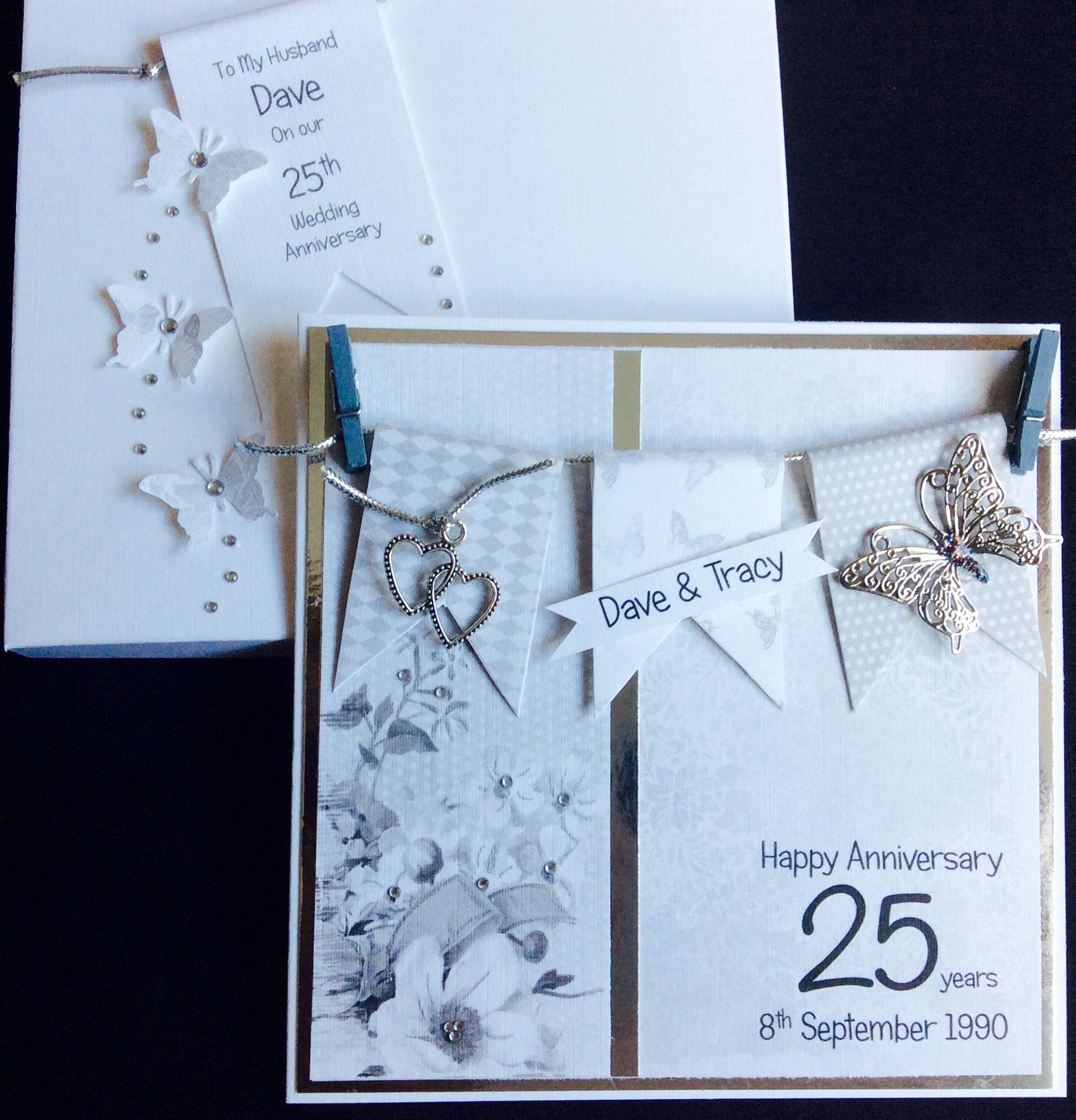 Order Code 0214075 25th Wedding Anniversary Card In One Of My Favourite DesignsBeautiful