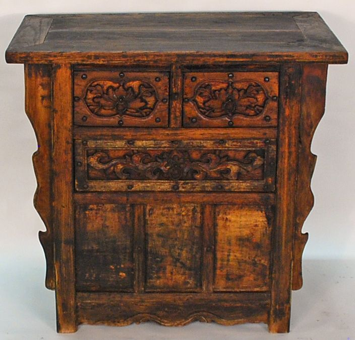 Antique Asian Furniture: Rare Chinese Three Drawer Coffer Table from Shanxi  Province, China - Antique Asian Furniture: Rare Chinese Three Drawer Coffer Table From