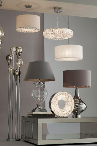 Halo Kendra Smoked Table Lamp From Next Lighting Collections Home Furniture Home