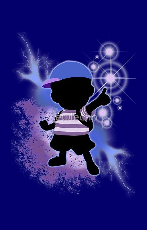 super smash bros blue ness silhouette iphone case by jewlecho
