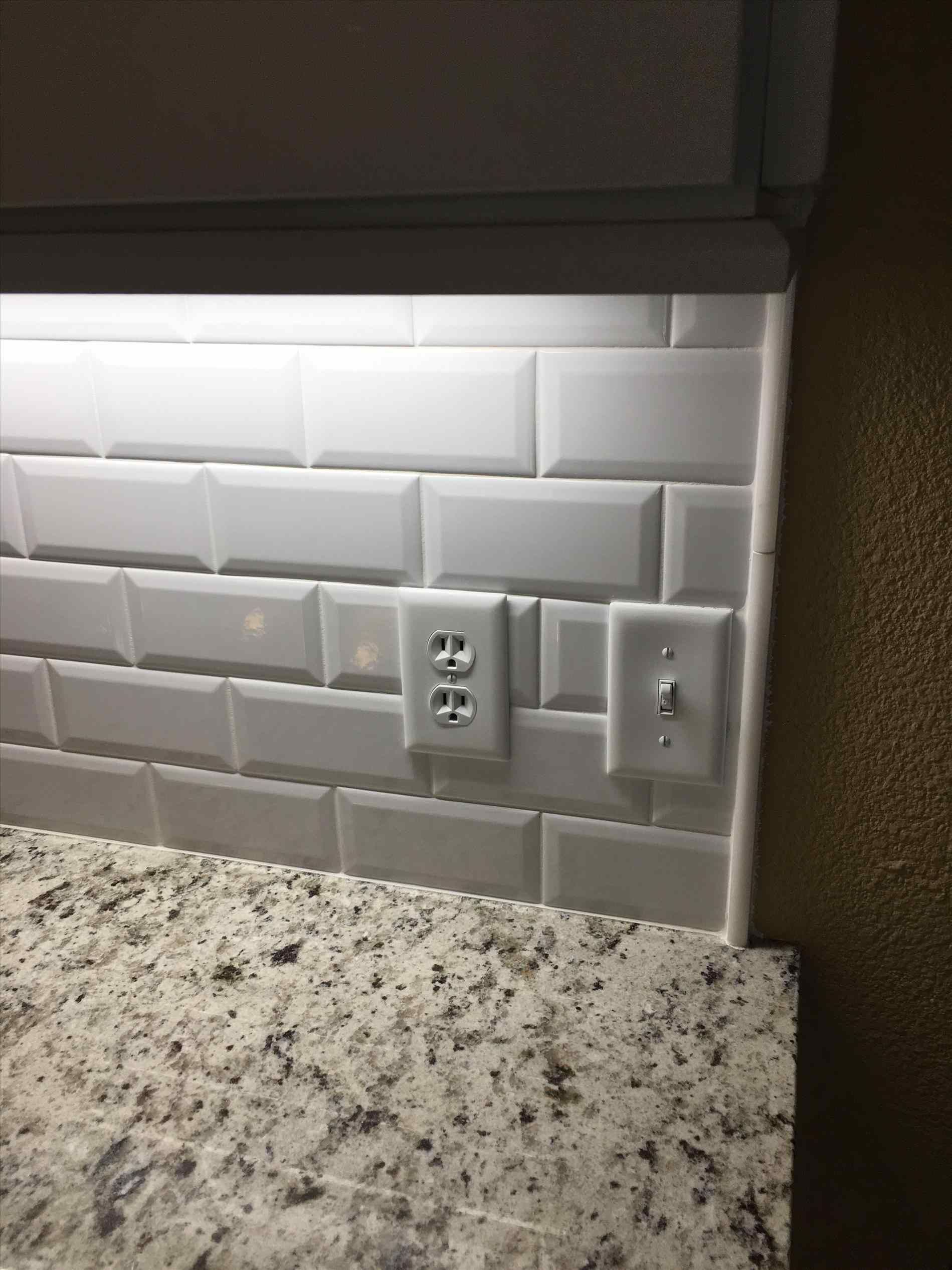 backsplash beveled subway tile