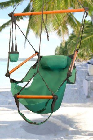 Charmant Amazon.com: New Deluxe Green Sky Air Chair Swing Hanging Hammock Chair W/