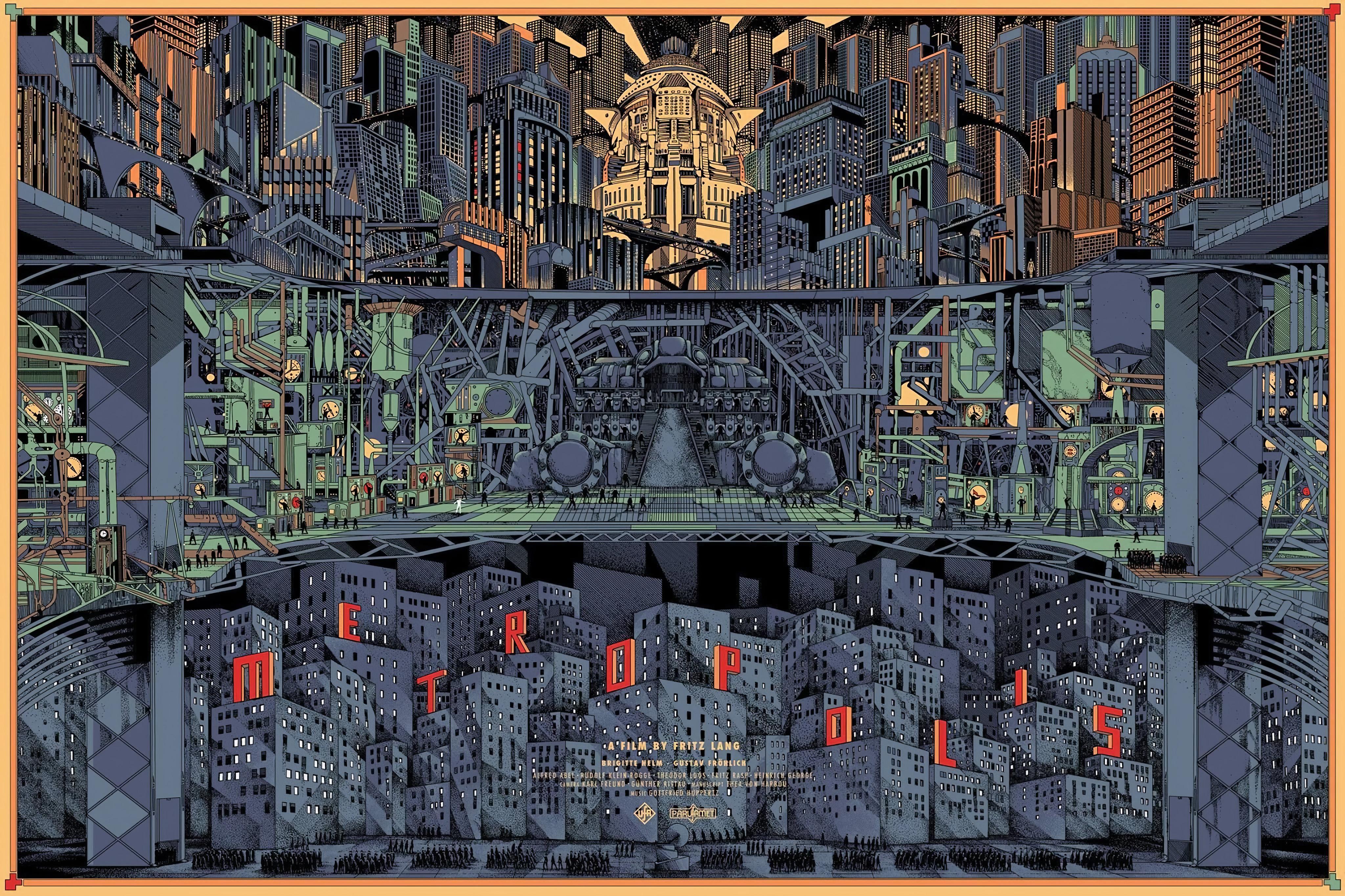 Metropolis (1927) By Kilian Eng [4096x2730] Metropolis