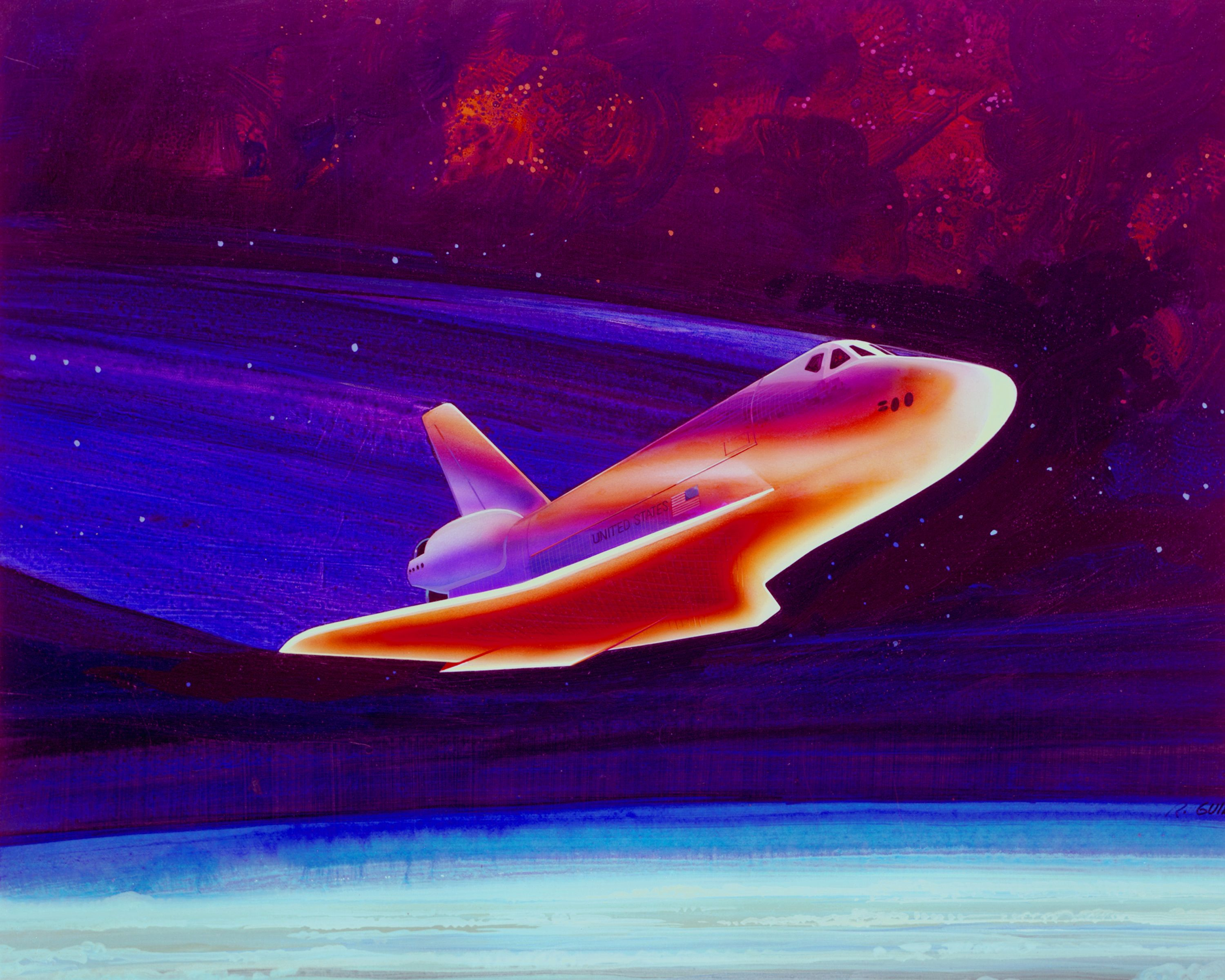 space shuttle reentry temperature - photo #24