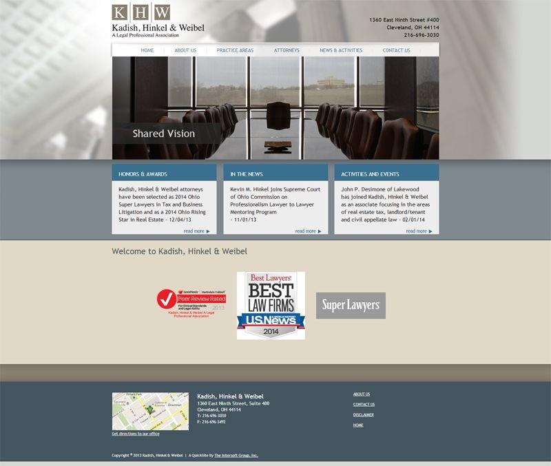 Web Design For Kadish Hinkel Weibel Web Design Design Lakewood
