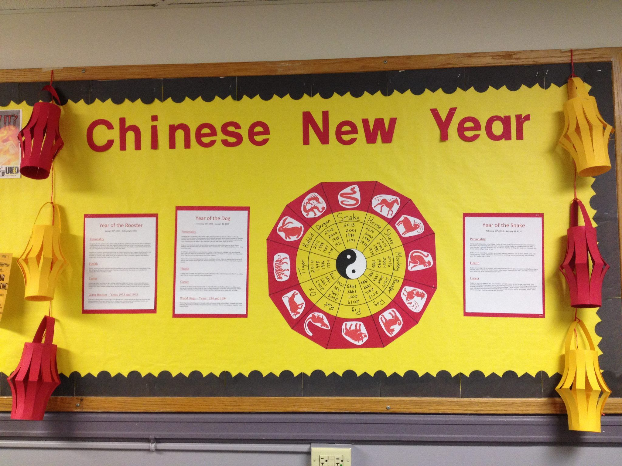 Chinese New Year bulletin board | Holiday bulletin boards ...